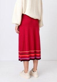 Ivko - Áčková sukně - rosewood - 2