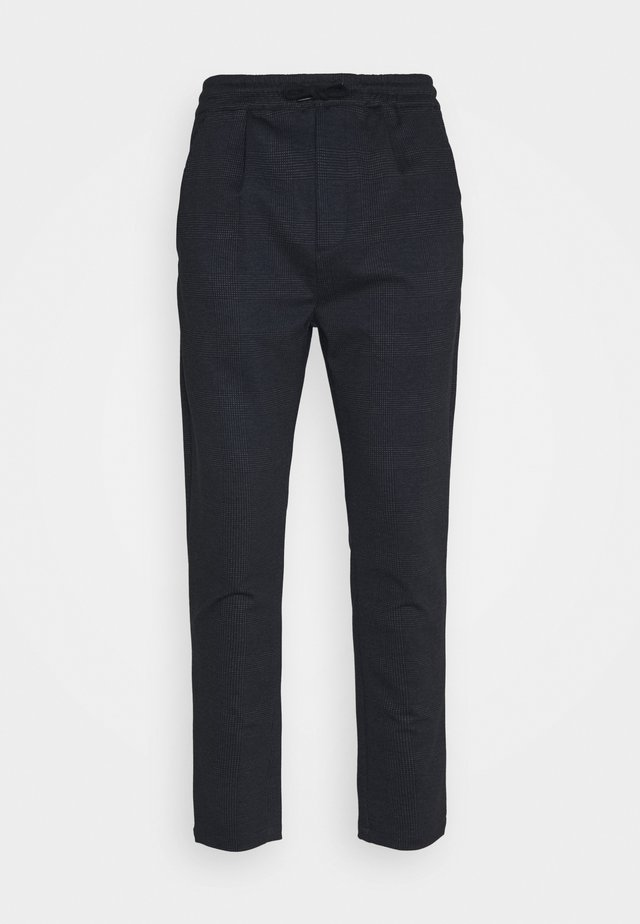 CLUB JOGGER TEXTURE PANTS - Pantaloni - navy check