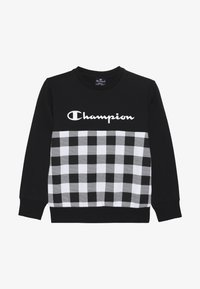 Champion - CHAMPION X ZALANDO CREWNECK - Sweatshirt - black/white - 3