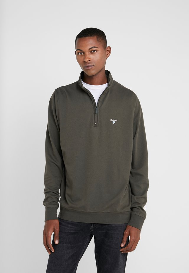 BATTEN HALF ZIP - Sweater - olive