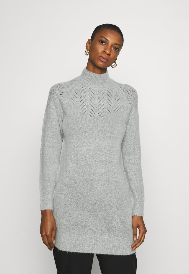 LONGLINE PONTELLE HIGH NECK YOKE - Jersey de punto - light grey
