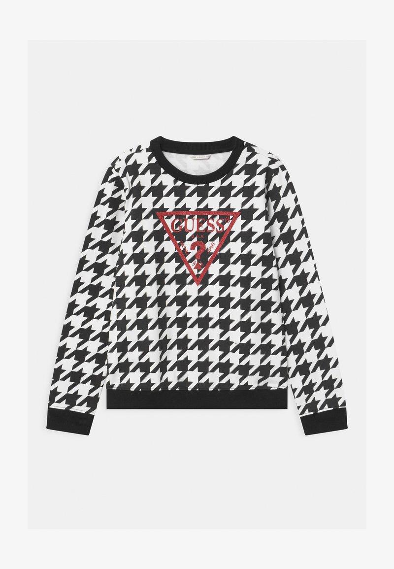 Guess - JUNIOR ACTIVE - Sweatshirt - black/white