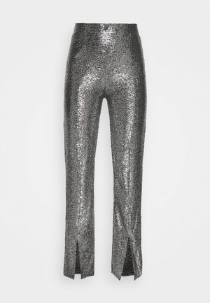AIRY GLITTER TROUSERS - Bukse - silver/black