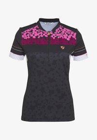 Ziener - NELSA - T-Shirt print - black/pink - 3