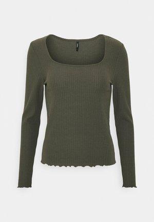 ONLNELLA  SQUARE NECK - Long sleeved top - kalamata