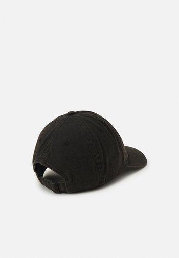 WASHED UNISEX - Cap - black/black