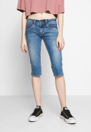 SATURN  - Denim shorts - blue denim