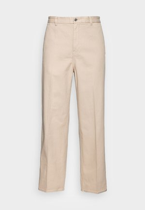 ROSS WIDE TROUSERS - Chinos tipa bikses - beige