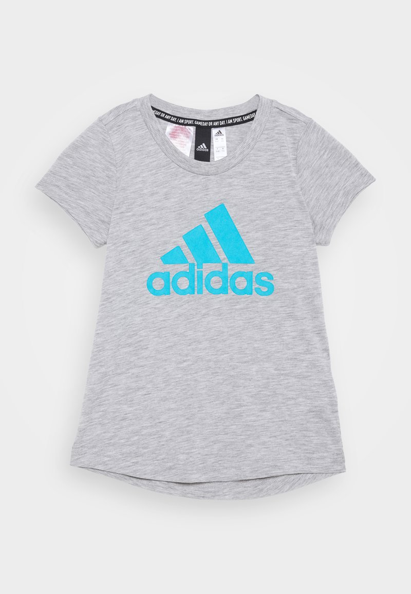 adidas Performance - TEE - Print T-shirt - mottled grey
