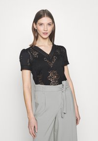 Morgan - DUPLEX - Print T-shirt - noir - 0