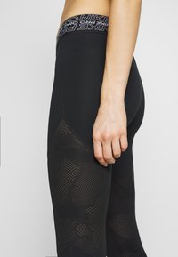 Nike Performance - CROP - Tights - black/white - 5