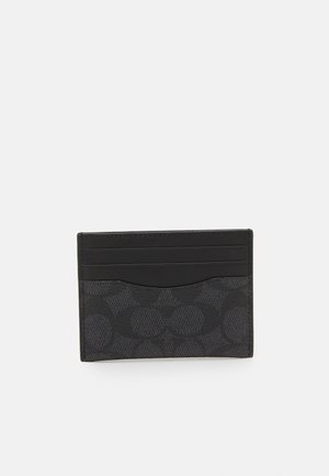 FLAT CARD CASE IN SIGNATURE UNISEX - Portefeuille - charcoal/black
