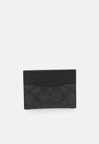 FLAT CARD CASE IN SIGNATURE UNISEX - Wallet - charcoal/black