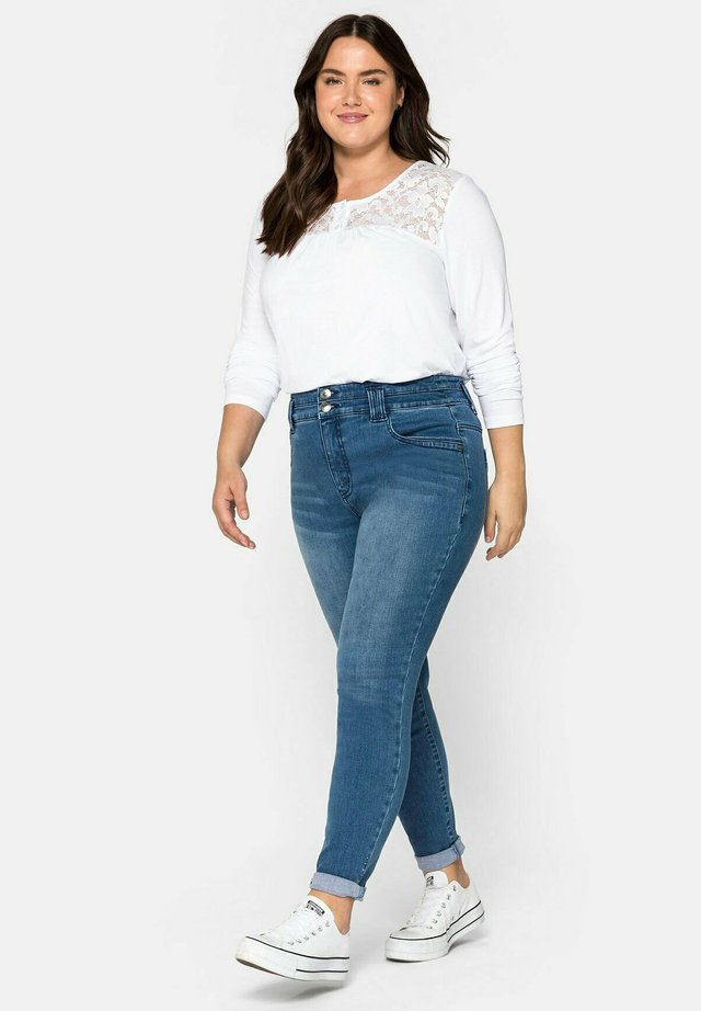 Jeans Skinny - blue used denim
