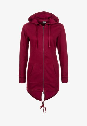 Zip-up hoodie - red