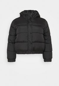 Missguided Plus - HOODED PUFFER JACKET - Winter jacket - black - 4