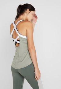 Nike Performance - DRY TANK ELASTIKA - Sports shirt - jade stone/white - 2