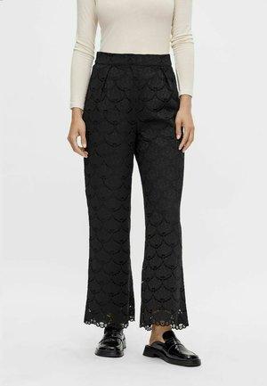 HIGH WAIST YASCLARA - Trousers - black