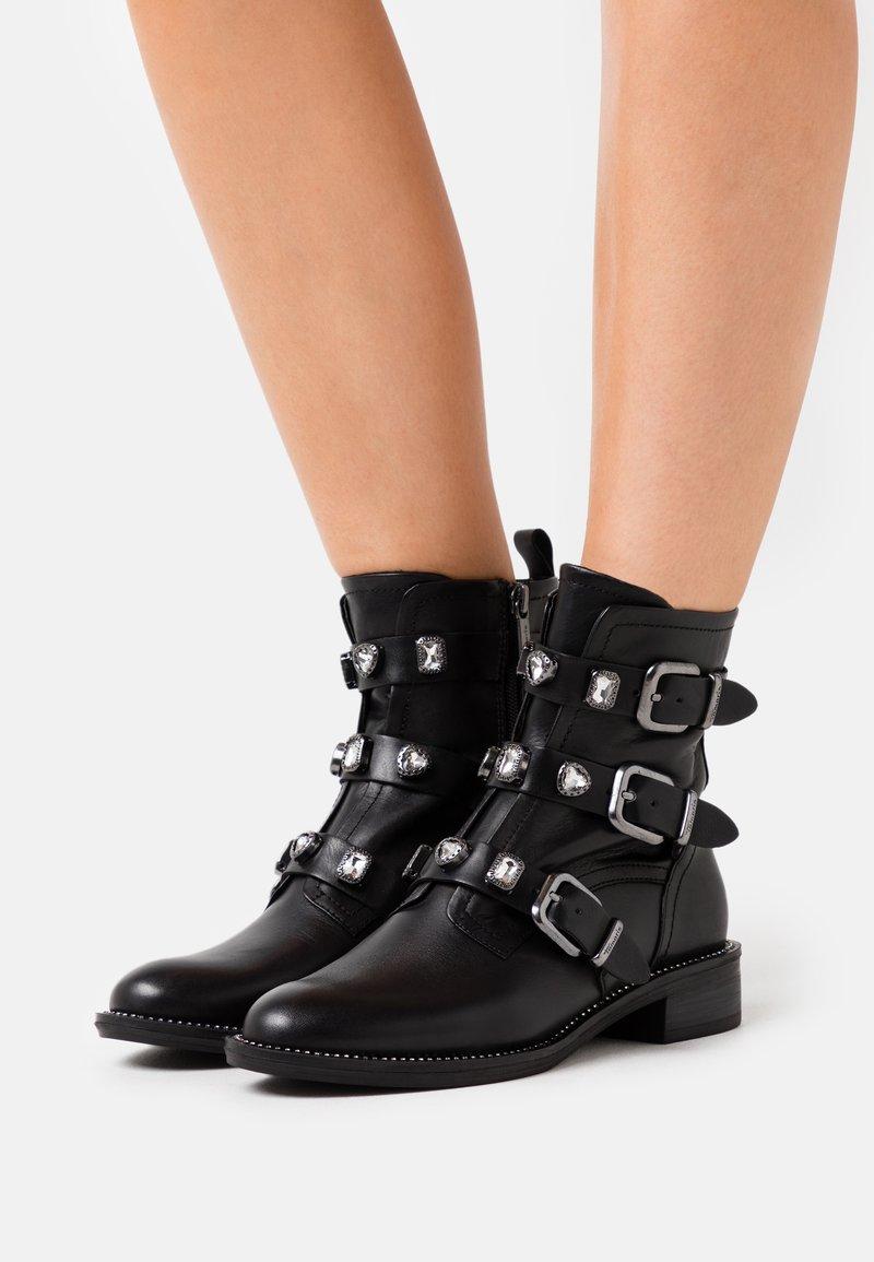 Tamaris - BOOTS - Cowboy/biker ankle boot - black