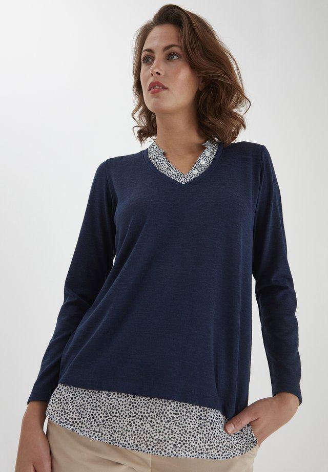 Sweter - navy blazer melange
