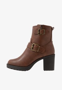 Anna Field Wide Fit - Platform ankle boots - brown - 1