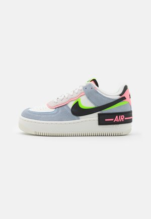 AIR FORCE 1 SHADOW - Trainers - sail/black/sunset pulse/light armory blue/electric green