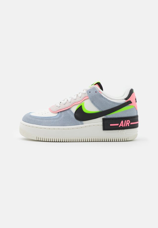 AIR FORCE 1 SHADOW - Baskets basses - sail/black/sunset pulse/light armory blue/electric green