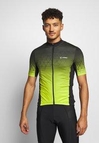LÖFFLER - BIKE EVO - T-Shirt print - black/light green - 0