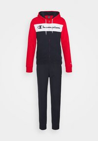 Champion - HOODED FULL ZIP SUIT - Tracksuit - red/dark blue - 6