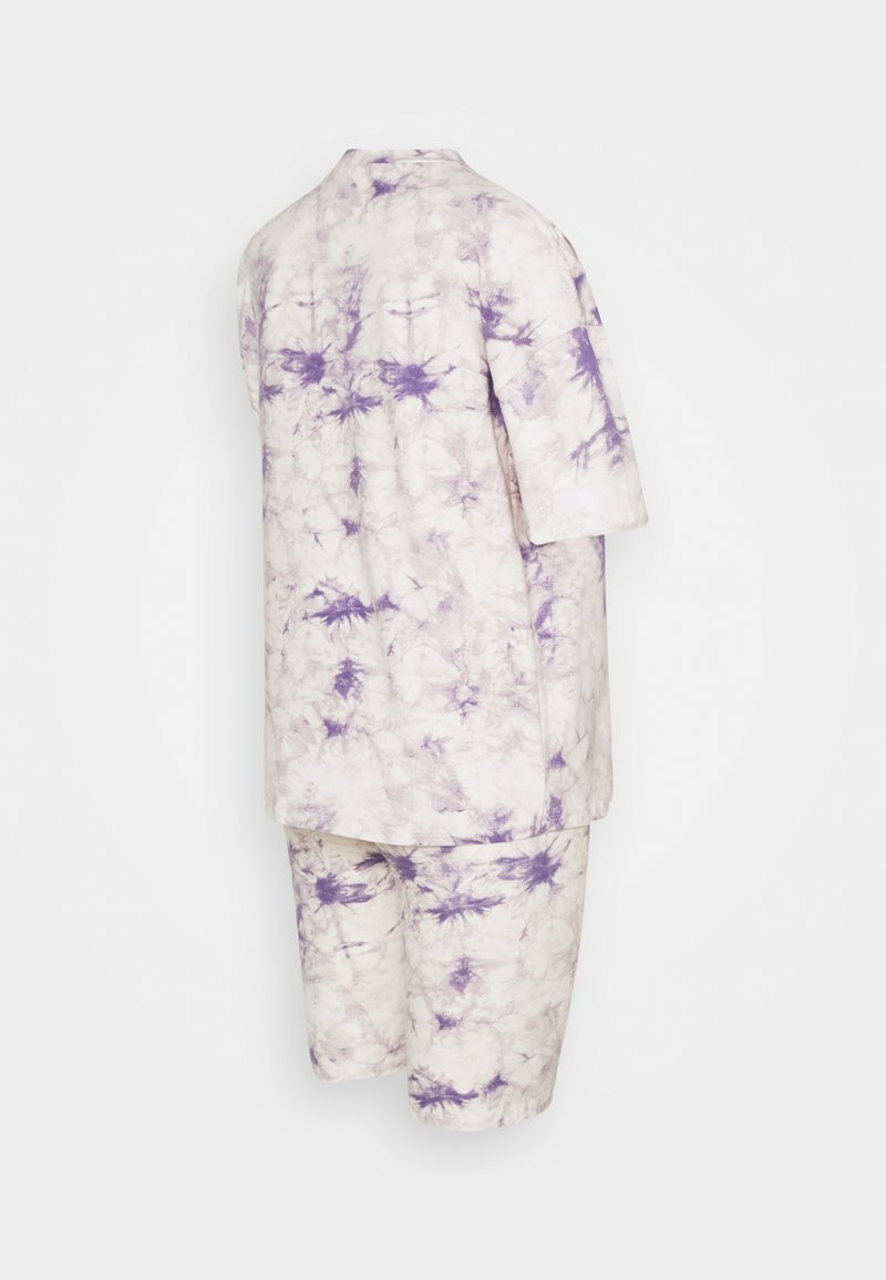 Missguided Maternity - TIE DYE TEE AND CYCLING SET - Tracksuit bottoms - lilac