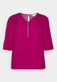 CAPSULE by Simply Be - ZIP FRONT BLOUSE - Blouse - magenta - 4