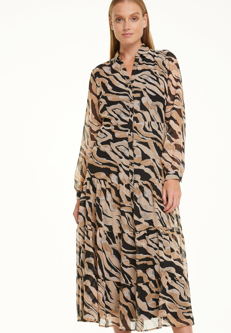 comma - Shirt dress - black zebra lines