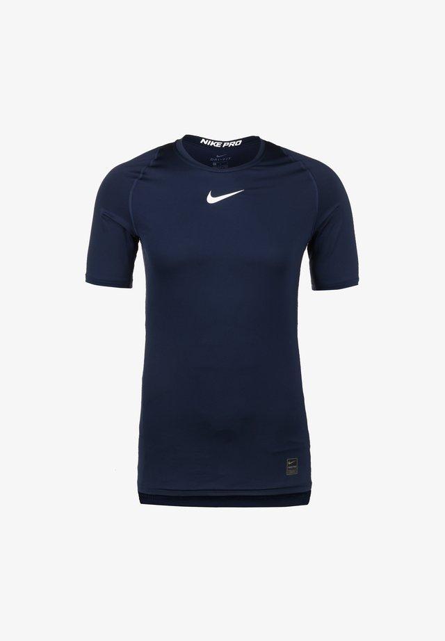 T-shirt de sport - obsidian / white / white