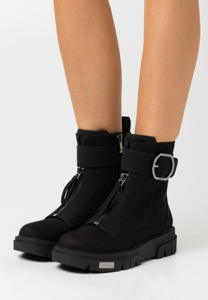 DKNY - LAINA - Lace-up ankle boots - black