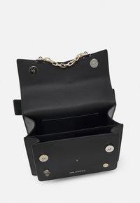KARL LAGERFELD - SEVEN PINS SHOULDERBAG - Taška spříčným popruhem - black - 3