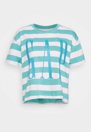 BOXY TEE - T-shirt z nadrukiem - blue