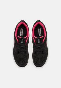 Skechers Performance - GO WALK JOY EASY BREEZE - Sportieve wandelschoenen - black/hot pink - 3