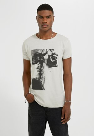 T-shirt imprimé - mottled beige