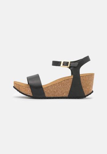 CINDY - Platform sandals - black