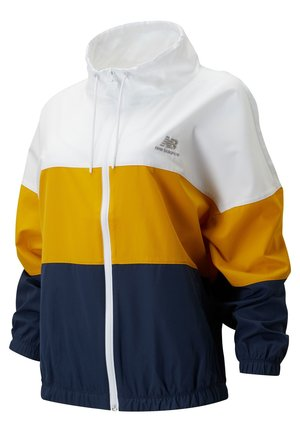 ATHLETICS WINDBREAKER - Chaqueta fina - natural indigo/varsity gold/white