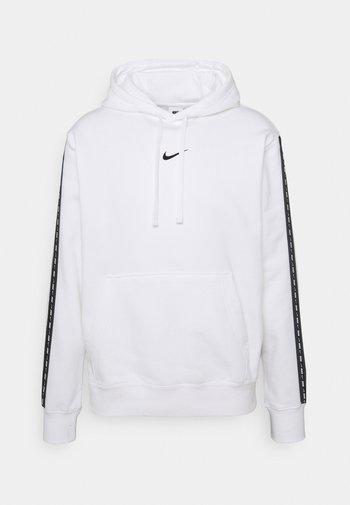 REPEAT HOODIE - Sweatshirt - white/black