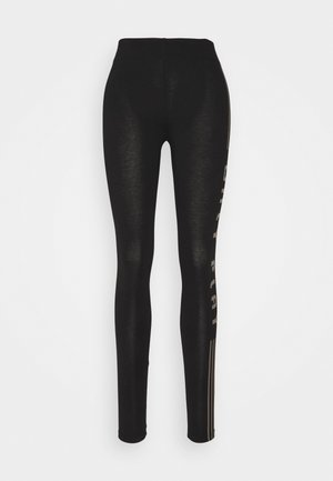 ONPJUTA LIFE LEG - Leggings - black/deep taupe