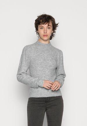 PCCANA HIGH NECK - Jumper - light grey melange