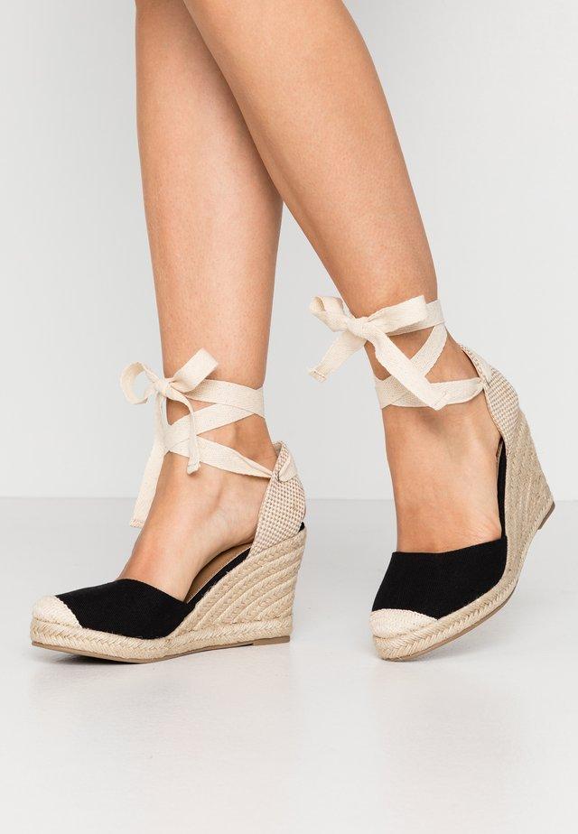 JARDAN TIE UP  - Sandaler med høye hæler - black