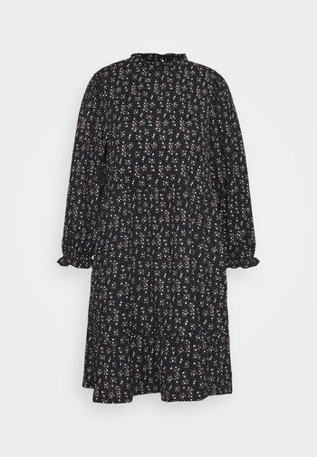 ONLZILLE NAYA HIGHNECK DRESS  - Kjole - black/lavender ditzy