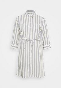ONLTAMARI DRESS - Shirt dress - cloud dancer/silver conce