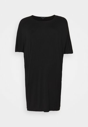 NICOLE POCKET COCOON DRESS - Žerzejové šaty - black