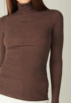 HOCHGESCHLOSSENES ULTRALIGHT - Long sleeved top - braun - 545i - brown blend