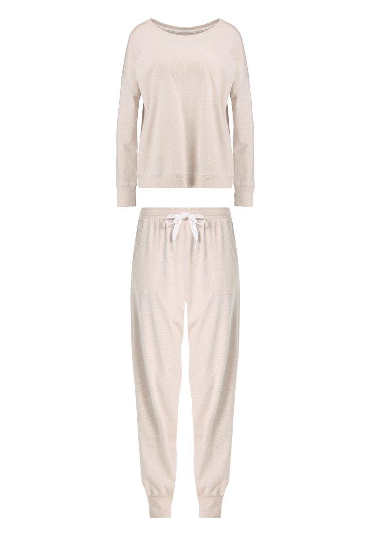 taille S haut et large jambe Cropped pant DKNY Noir Pyjama Set