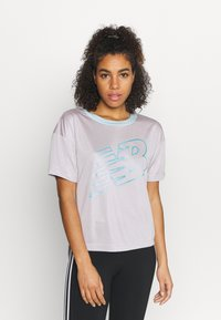 New Balance - ACHIEVER GRAPHIC  - T-shirt med print - logwood - 0